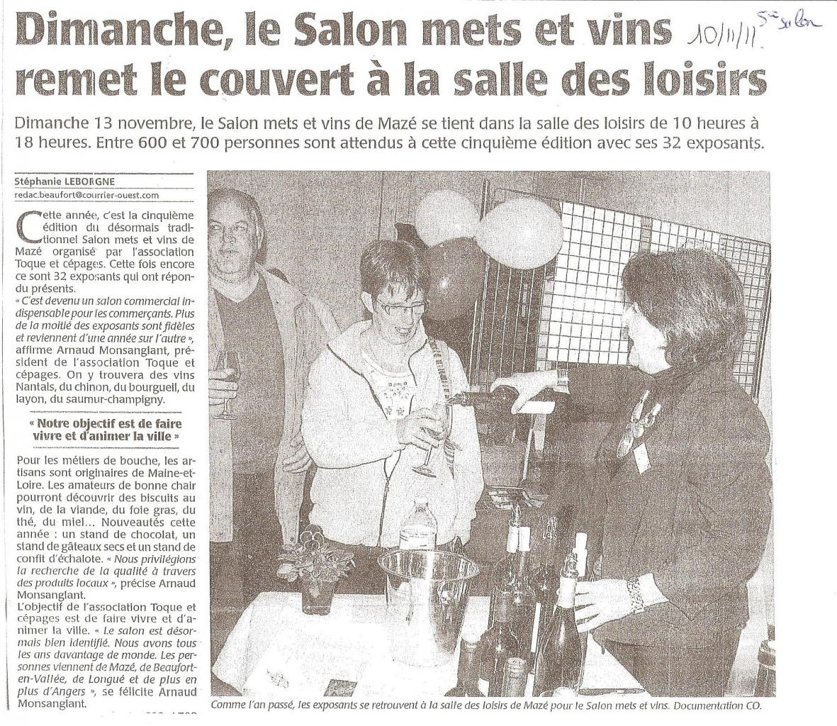 Article CO Annonce salon 2011