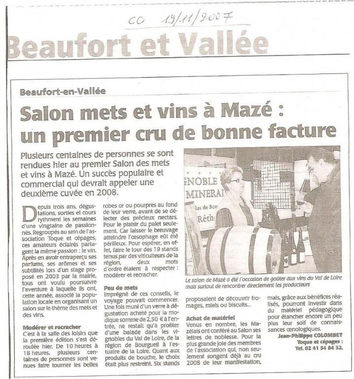 Article CO suite Salon 2007