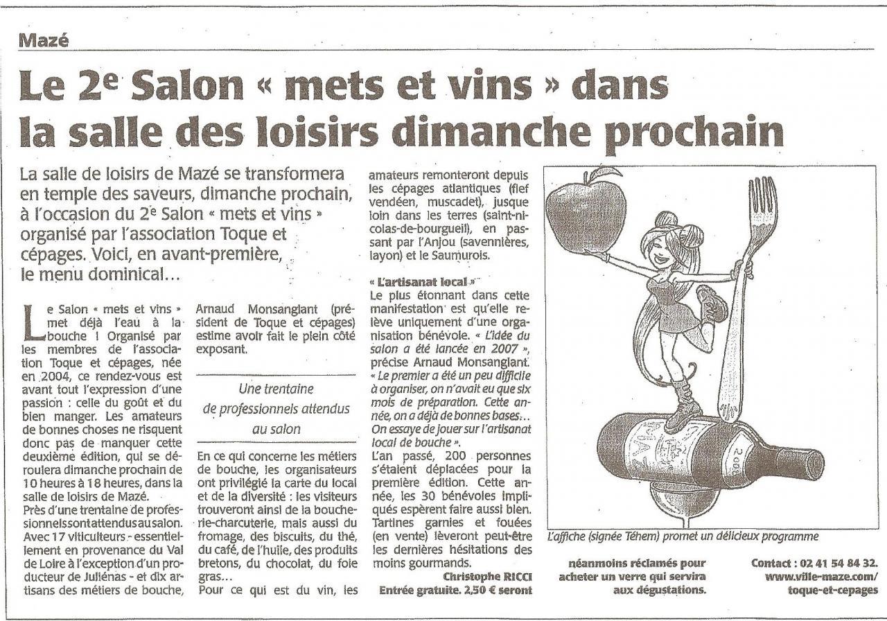Article CO annonce salon 2008