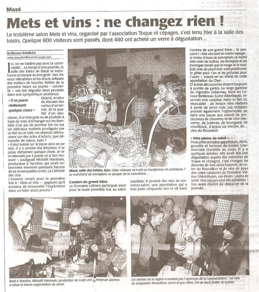 Article CO suite salon 2009