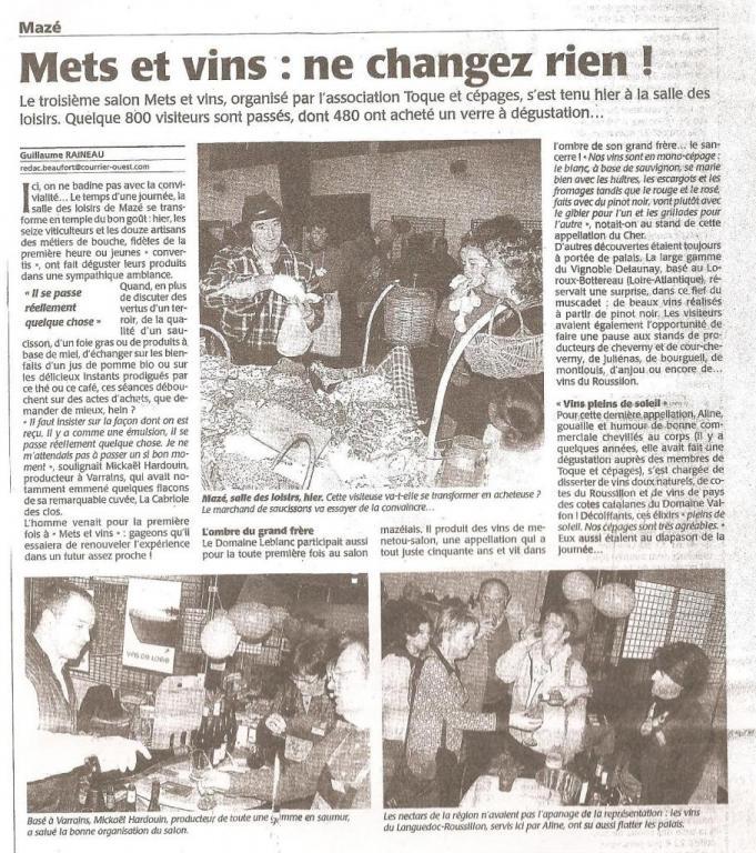 Article CO suite salon 2009