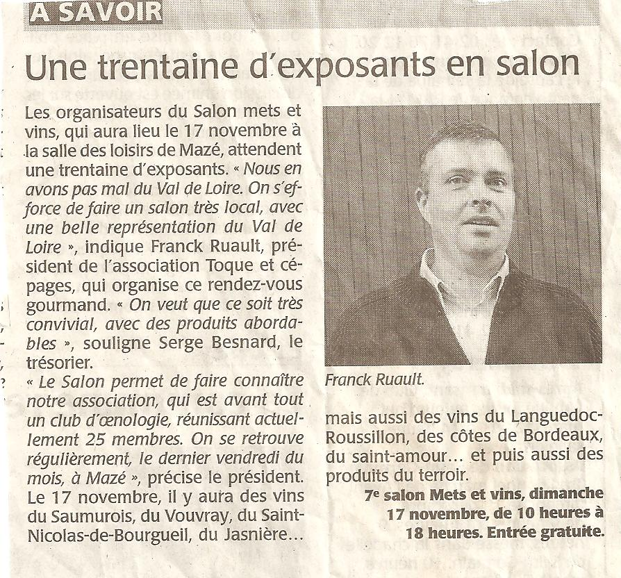 2013 article pré-salon