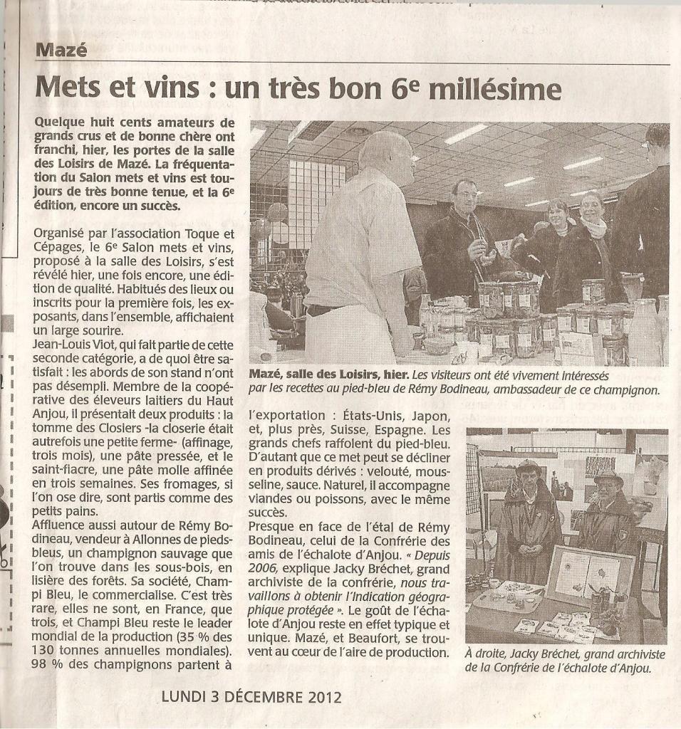 Article CO annonce salon 2012