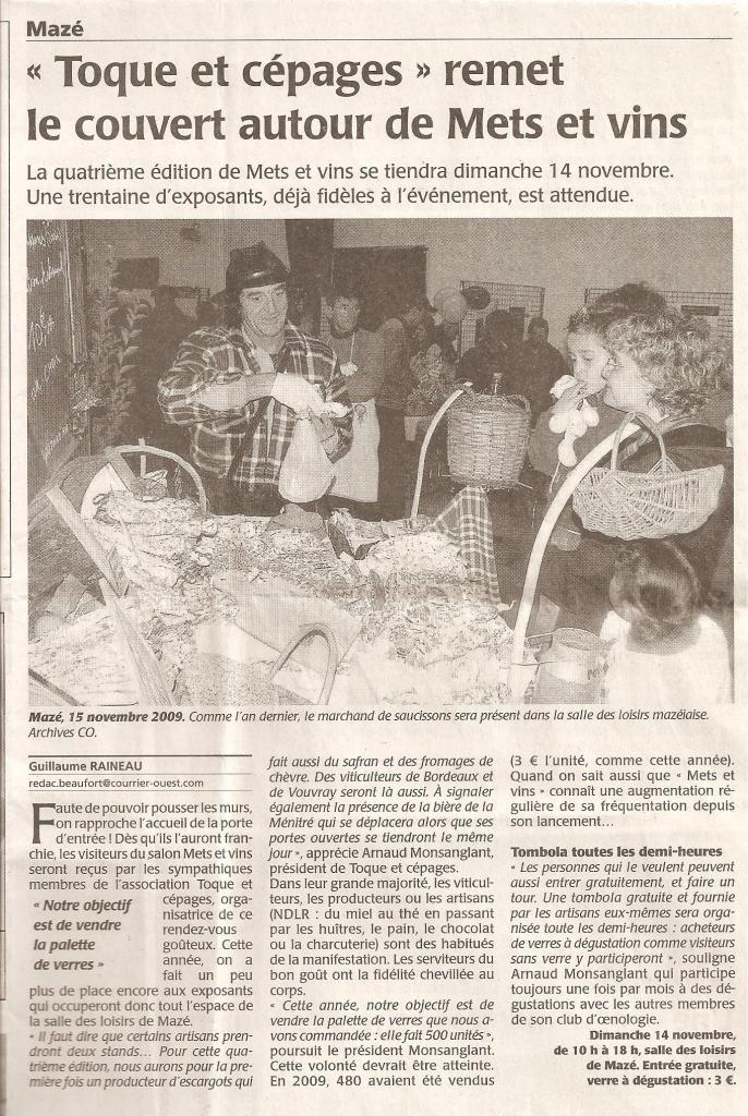Article CO annonce salon 2010