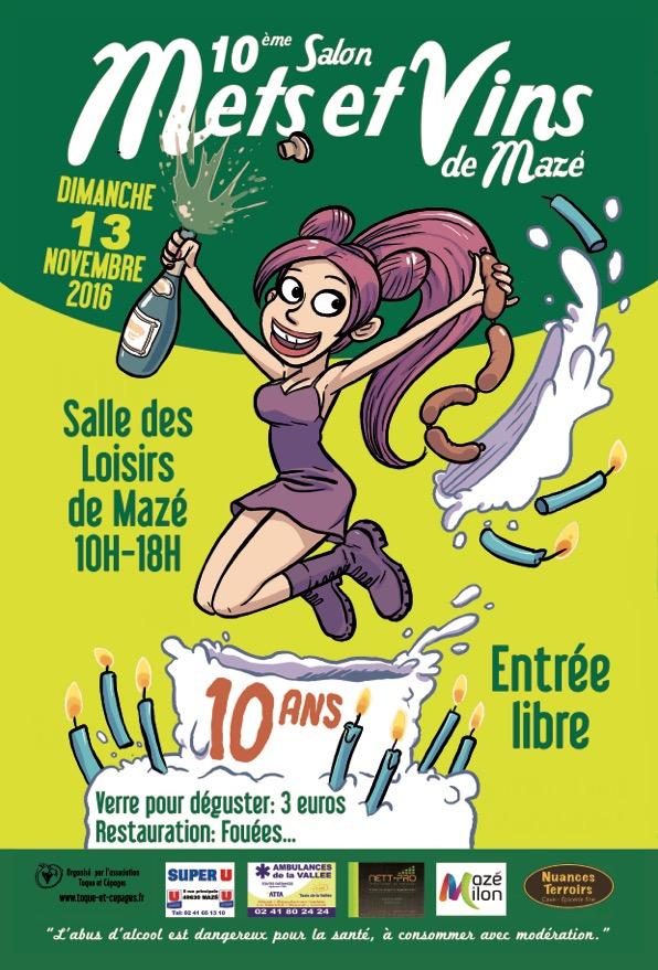 Affiche mets et vins 2016