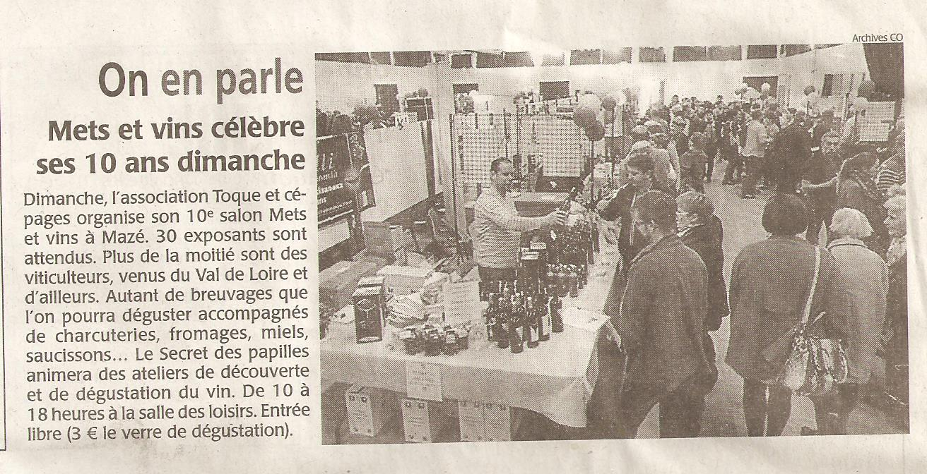 Article salon 2016 courrier de l'ouest du 11.11.16